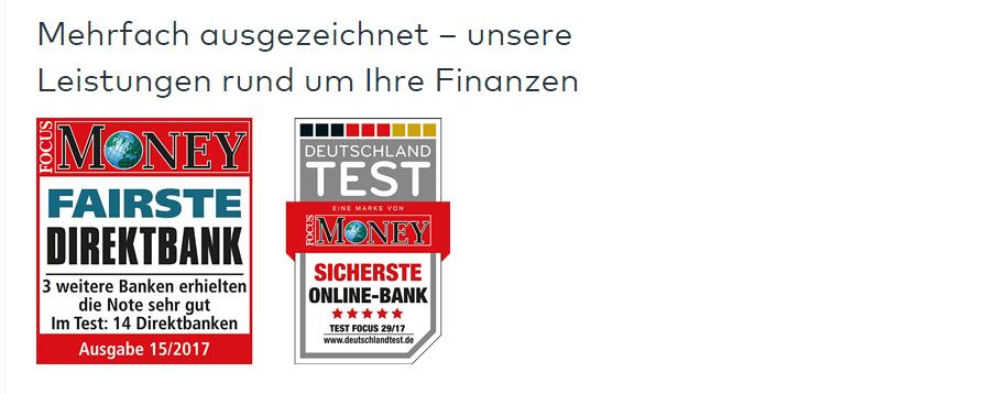 comdirect bank auszeichnungen