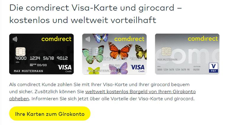 comdirect girokonto kostenlos geld abheben
