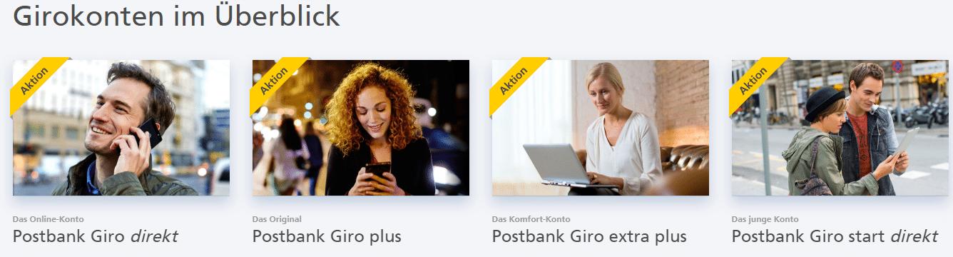 Postbank Girokonto Übersicht